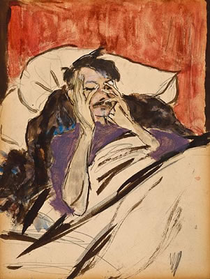 "Marjorie Organ, ""Robert Henri in Bed"""