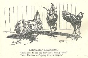 """Barnyard Reasoning,"" by Walt Kuhn, appeared in a 1907 issue of ""Judge"""